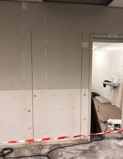 deur zagen beton